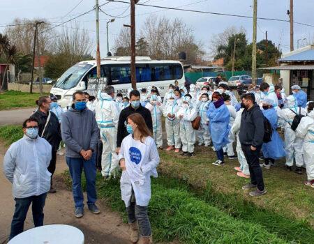Operativo Detectar en el barrio Las Rosas por un foco de contagios